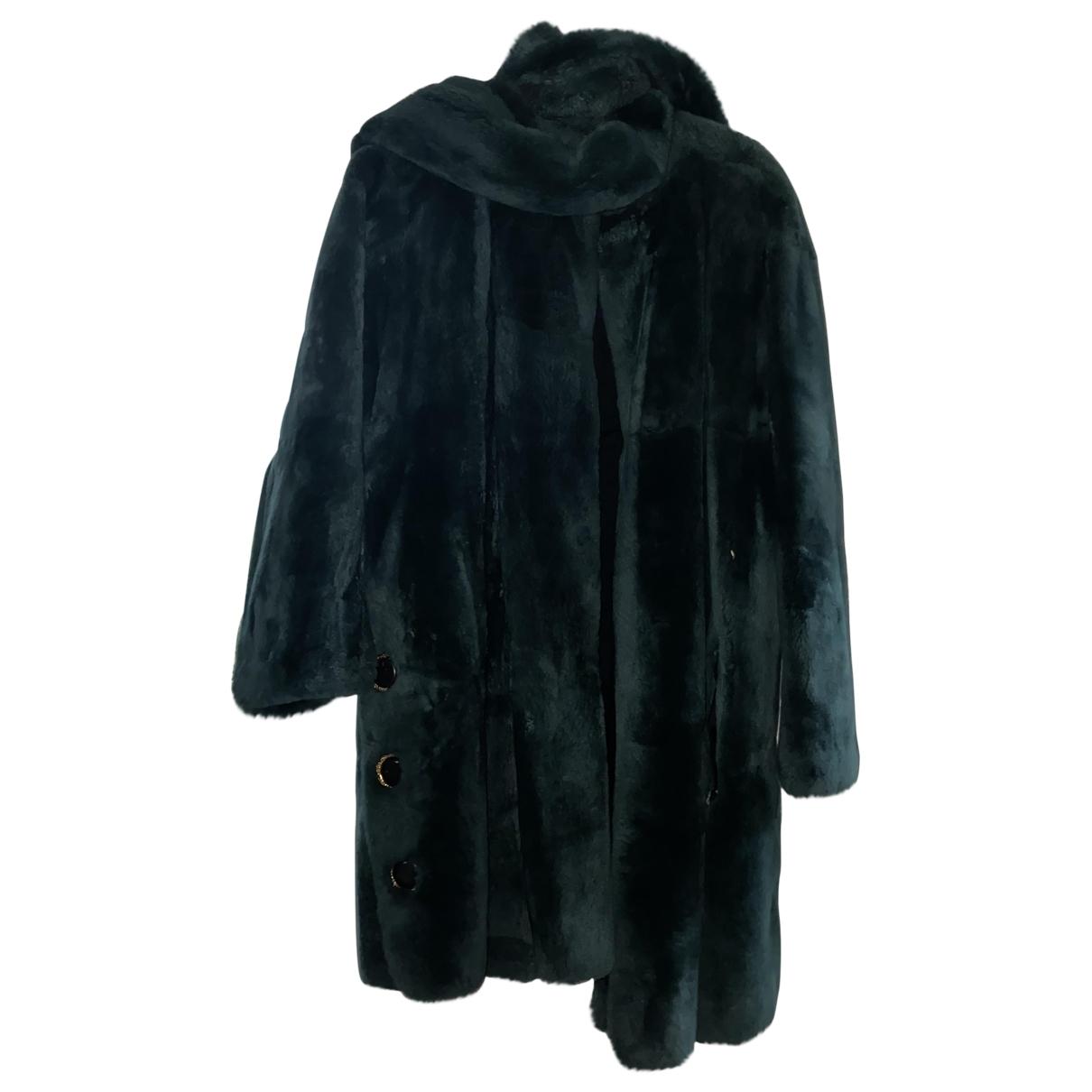 Yves Saint Laurent \N Green Fur coat for Women 14 UK