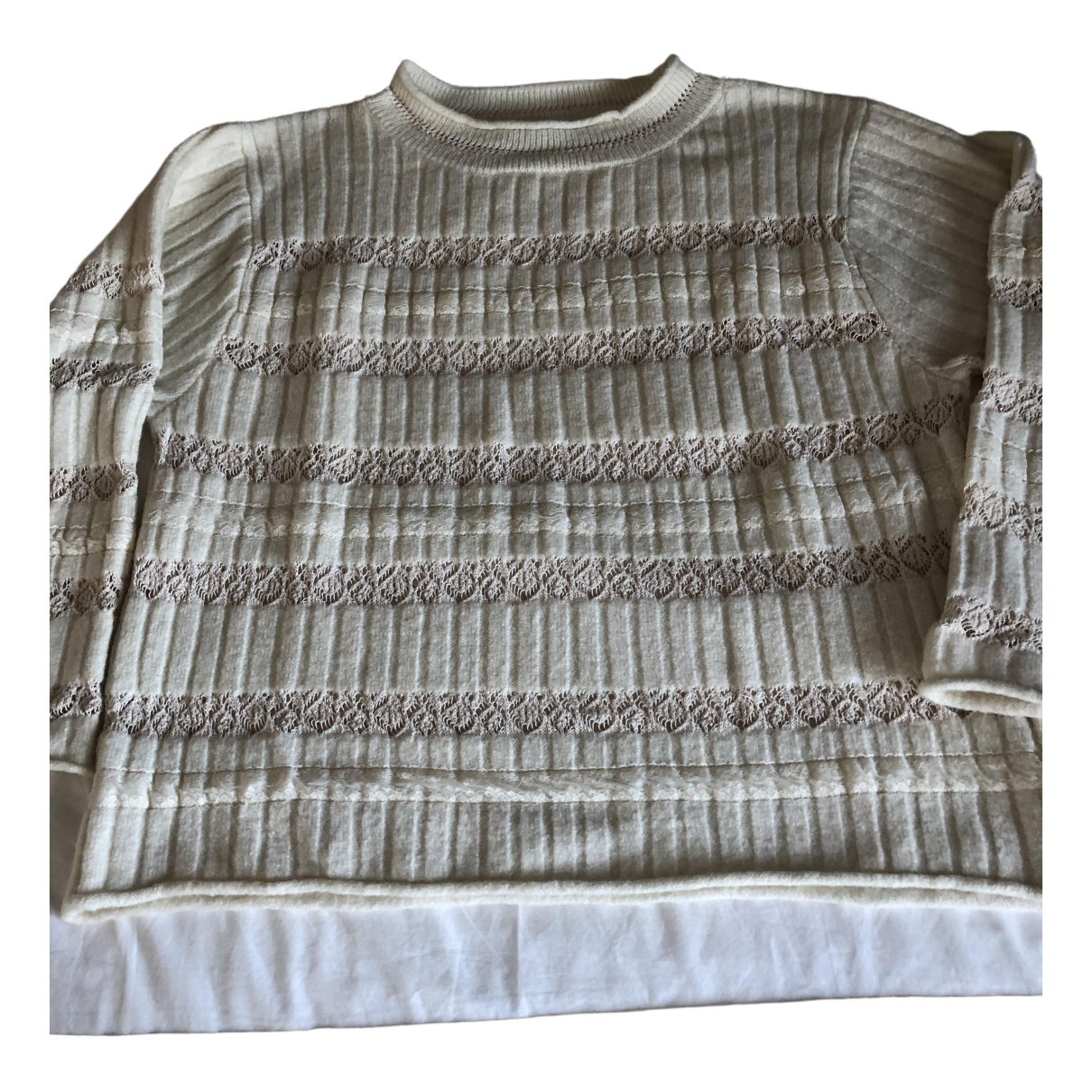 Zara \N Ecru Cotton Knitwear for Women S International