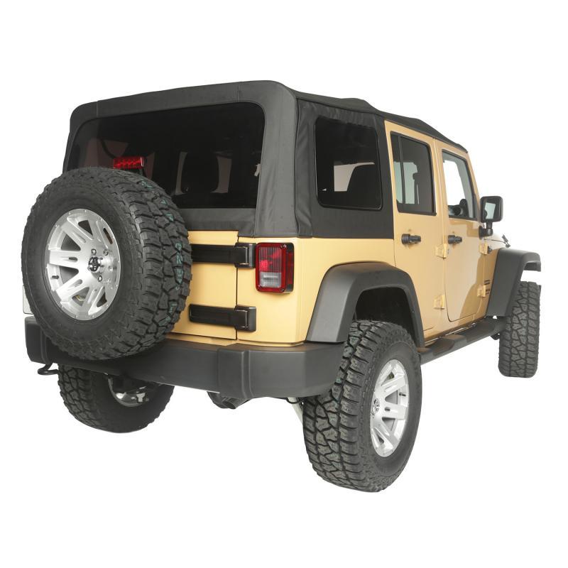 Rugged Ridge 13742.35 Soft Top, Black Diamond, Vinyl; 10-18 Jeep Wrangler JKU Jeep Wrangler 2010-2018