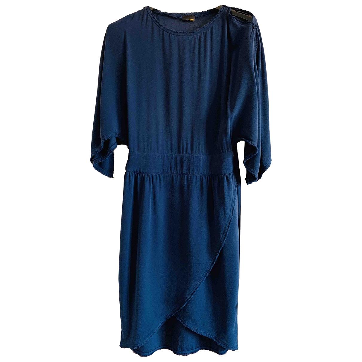 Fendi \N Blue Silk dress for Women 42 IT