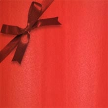 #f0010 Groove Strp Really Red - Gift Wrap - 26 X 417' - - Gift Wrapping Paper by Paper Mart