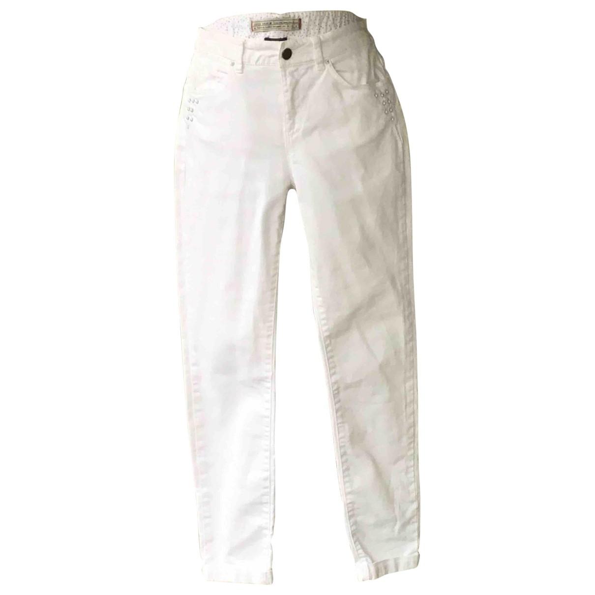 Ikks \N White Cotton - elasthane Jeans for Women 28 US