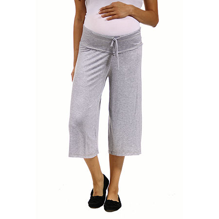 24/7 Comfort Apparel Loose Fit Straight Soft Drawstring Pant, 2x , Gray