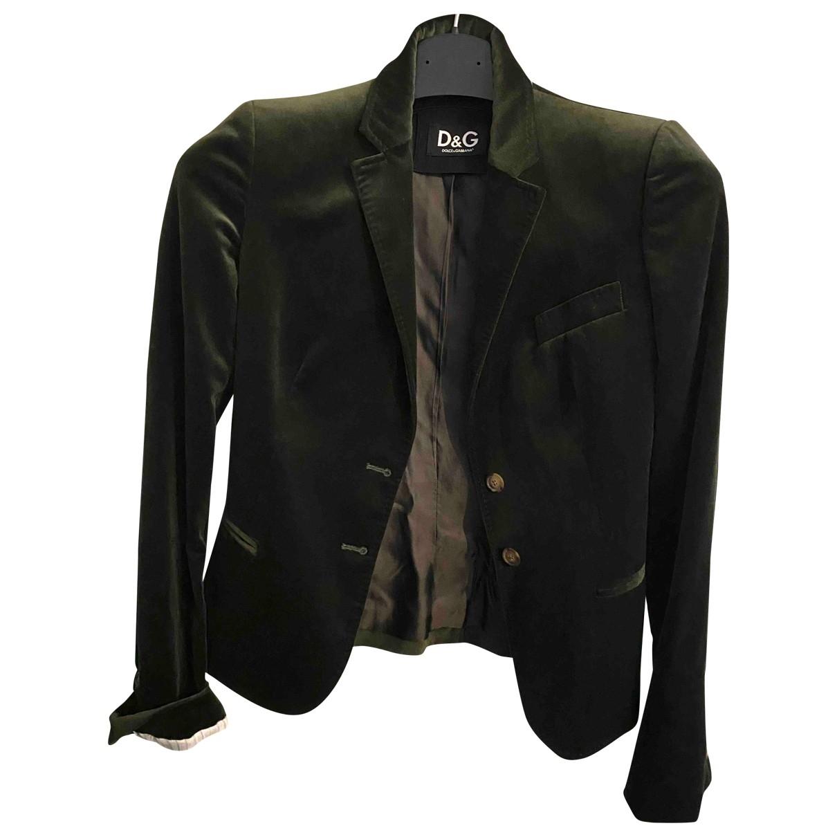 D&g \N Green Velvet jacket for Women 40 IT