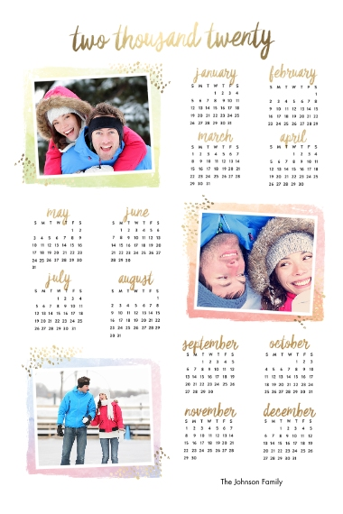 Calendar 20x30 Poster(s), Board, Home Décor -Artist Canvas
