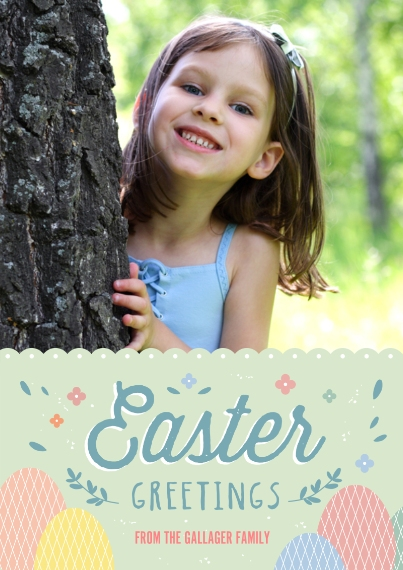 Easter Cards 5x7 Cards, Standard Cardstock 85lb, Card & Stationery -Pastel Easter Greetings