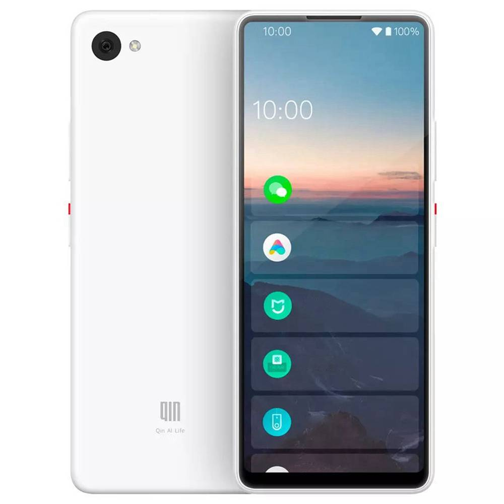 QIN Full Screen Bar Phone CN Version 4G LTE 5.05 Inch FHD+ Screen 1GB RAM 32GB ROM Android 9.0 - White