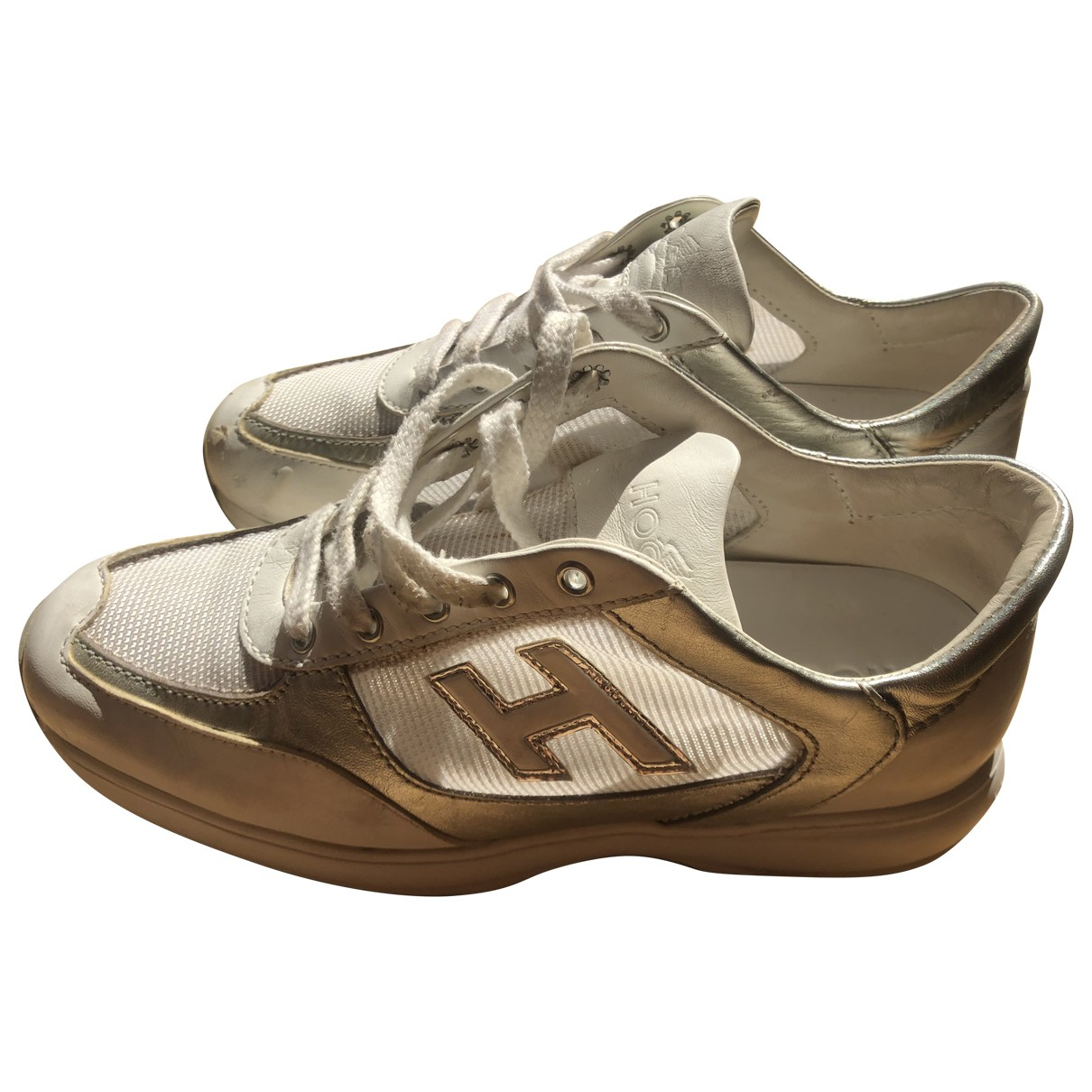 Hogan \N White Leather Trainers for Women 35 IT