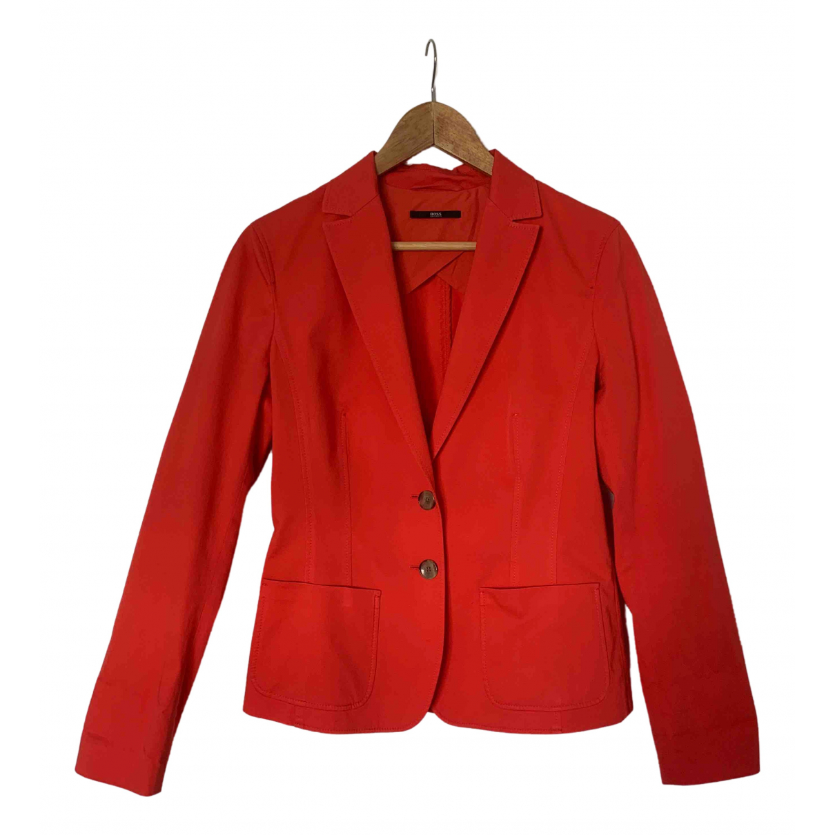 Boss \N Red Cotton jacket for Women 6 US
