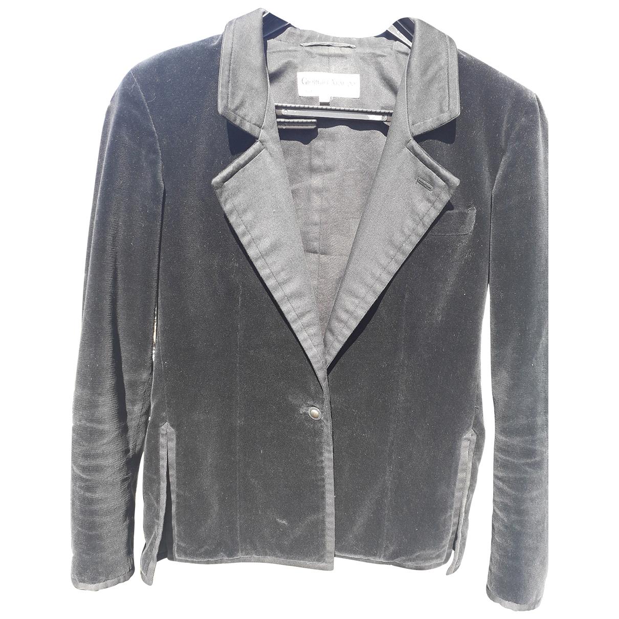 Giorgio Armani \N Black Velvet jacket for Women 42 IT