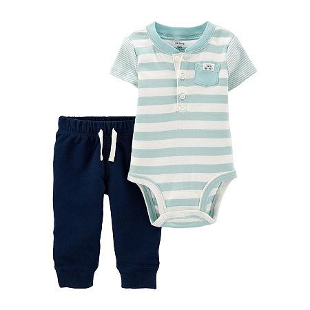 Carter's Baby Boys Bodysuit Set, 18 Months , Blue