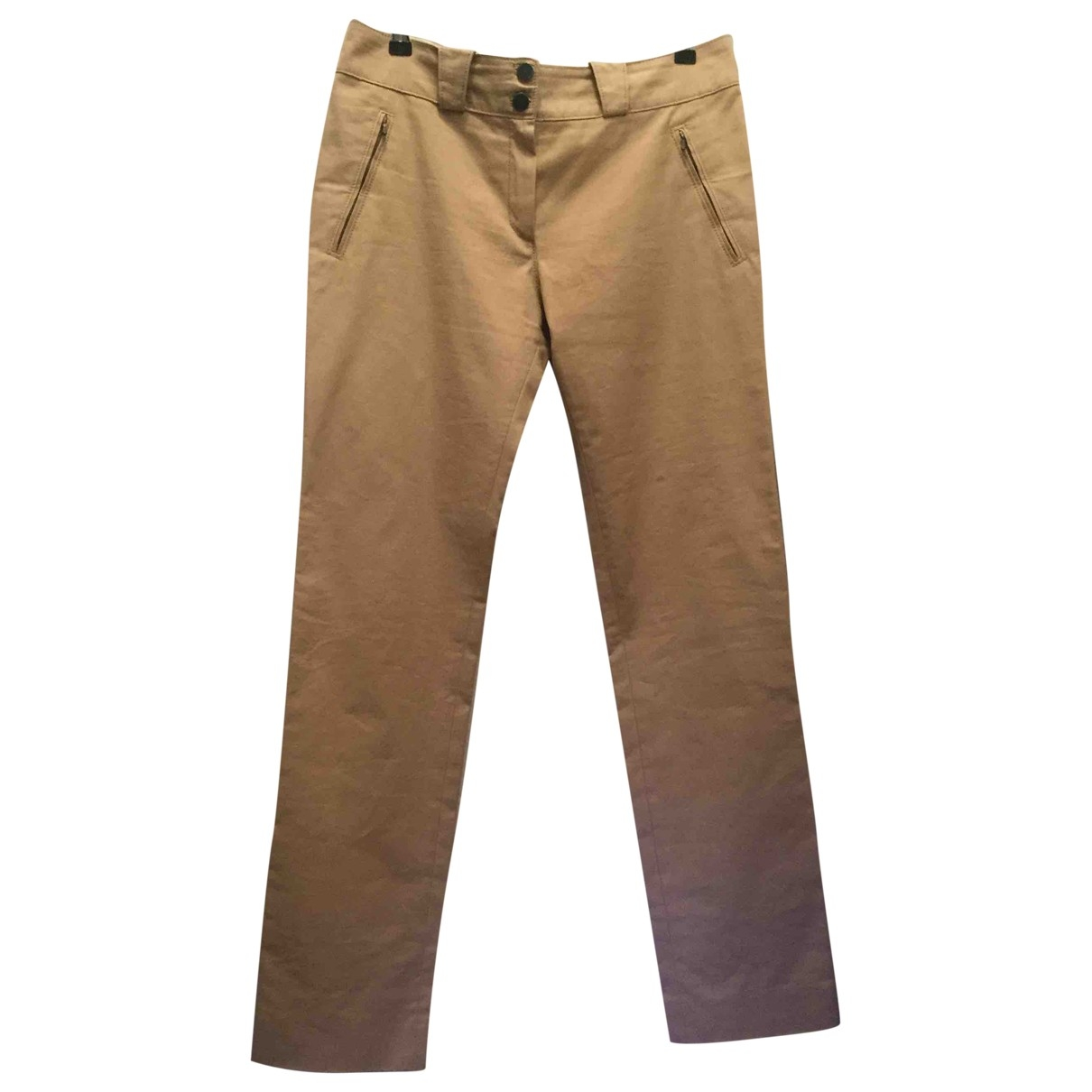 Balenciaga \N Camel Cotton Trousers for Women 42 FR
