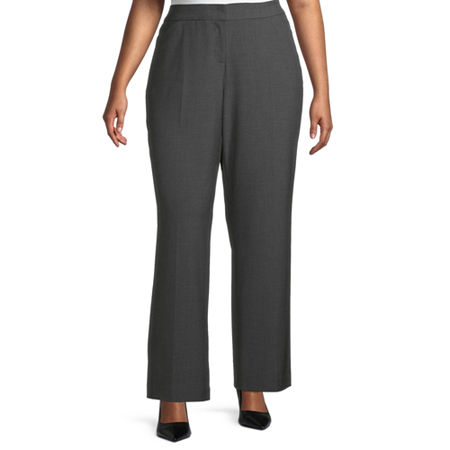 Worthington Womens Perfect Fit Trouser - Plus, 26w , Gray