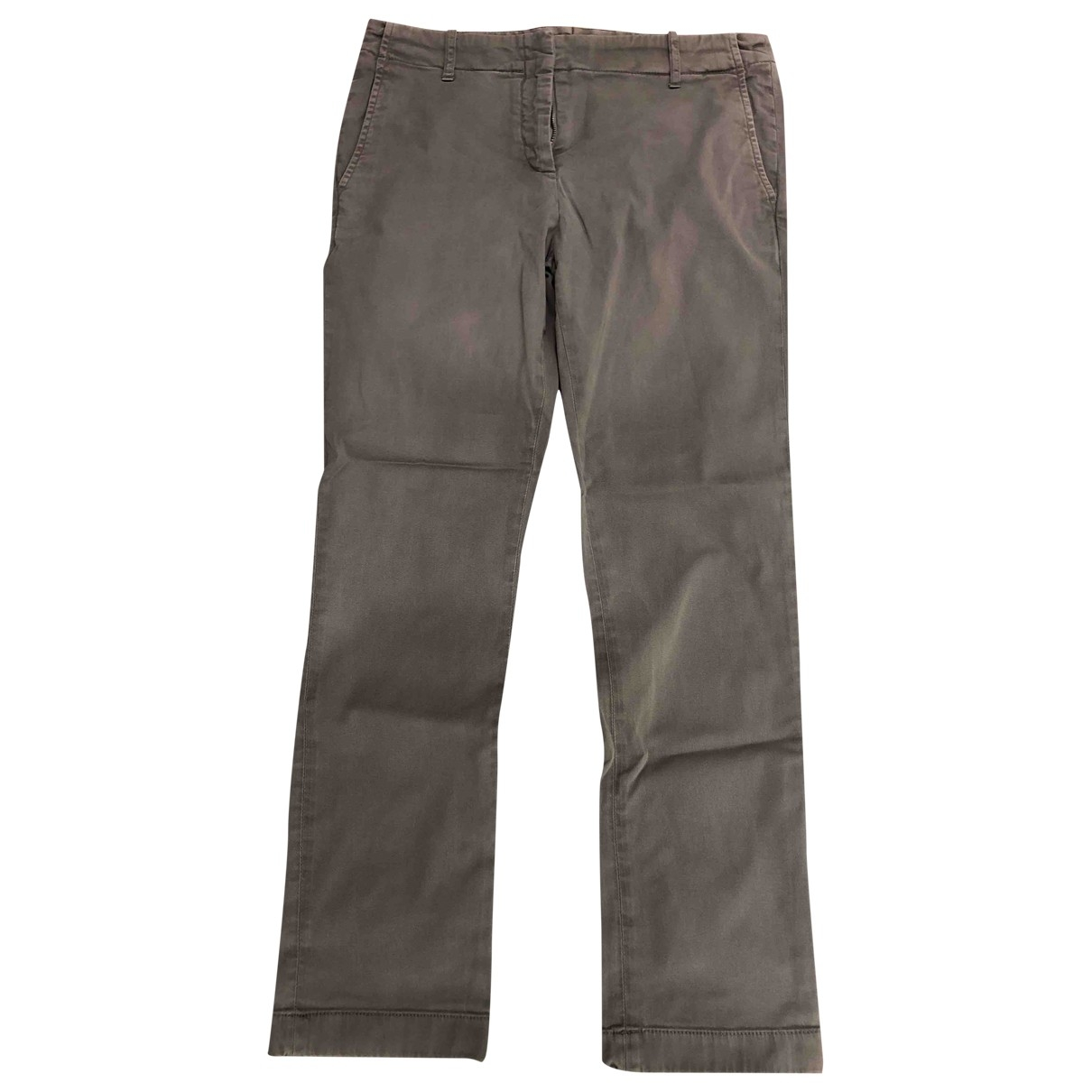 Aspesi \N Grey Cotton Trousers for Women 40 IT