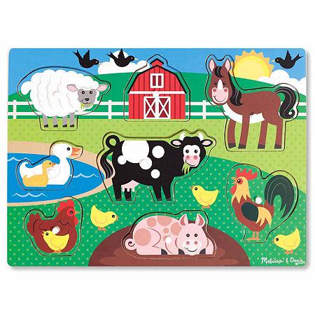 Melissa & Doug Farm Peg Puzzle, One Size , Multiple Colors