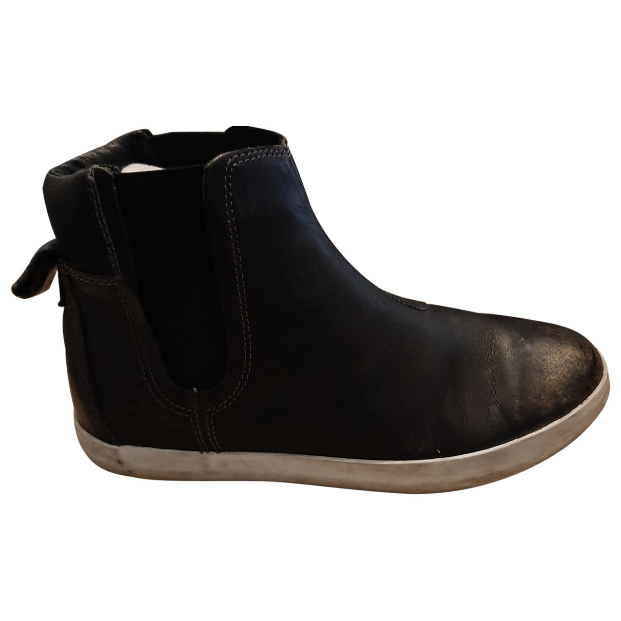 Timberland N Black Leather Ankle boots for Women 37 EU