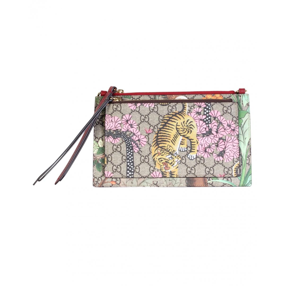 Gucci \N Brown Cloth Clutch bag for Women \N