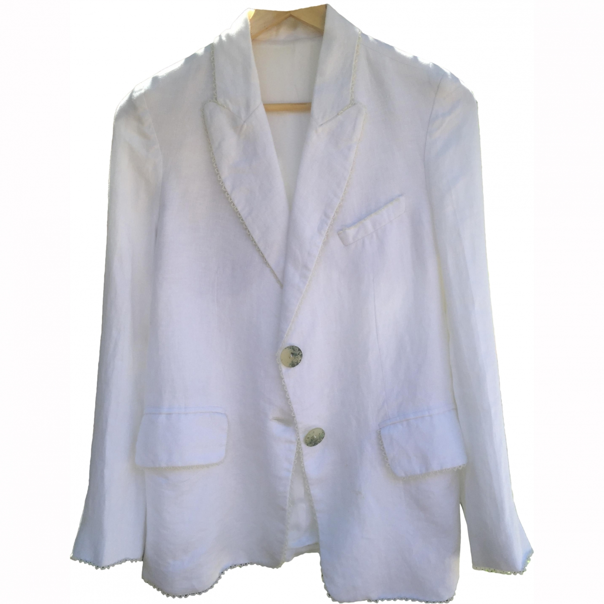 Non Signé / Unsigned \N White Linen jacket for Women S International