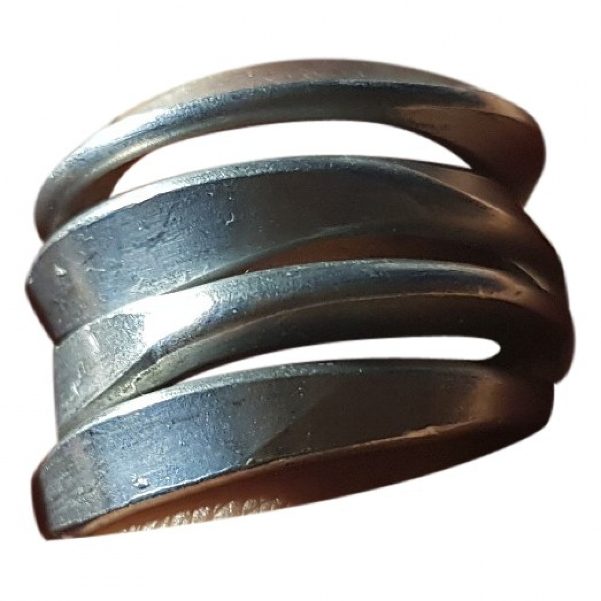 Non Signé / Unsigned \N Silver Metal ring for Women 59 MM