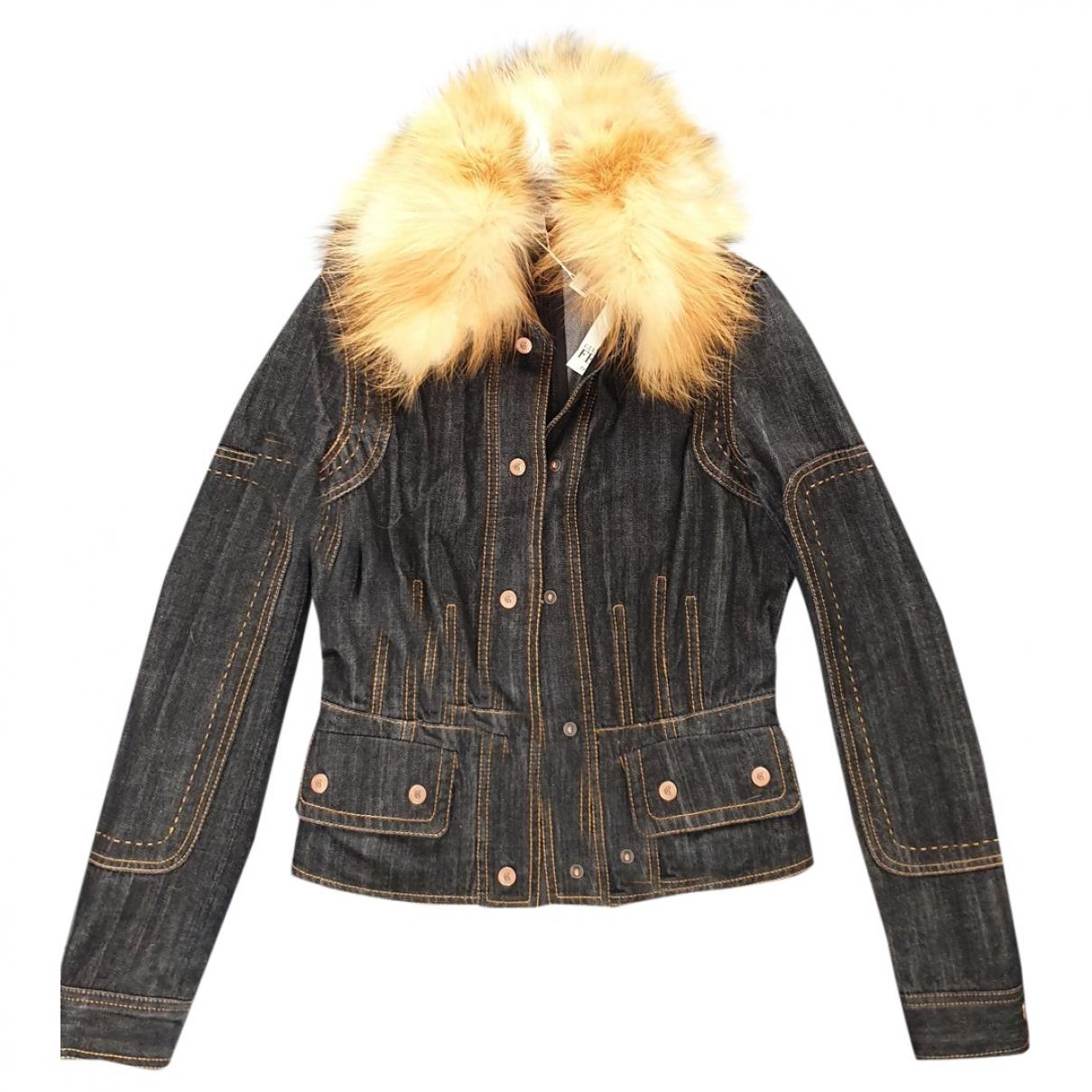 Gianfranco Ferré \N Black Denim - Jeans jacket for Women 38 FR