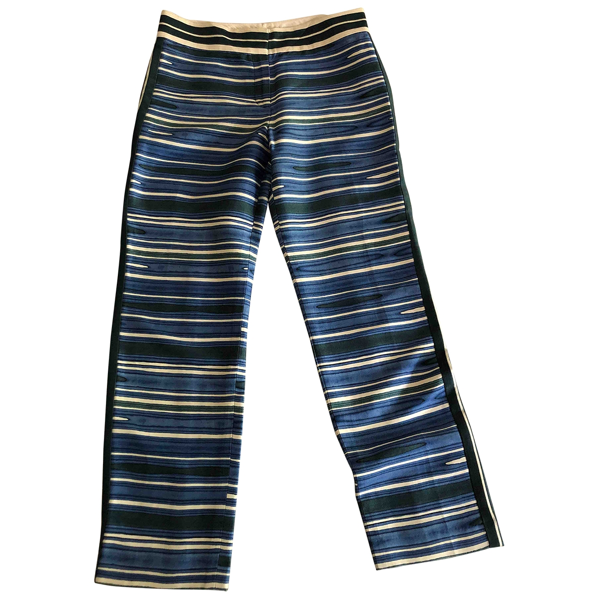 Tory Burch \N Blue Silk Trousers for Women 6 US