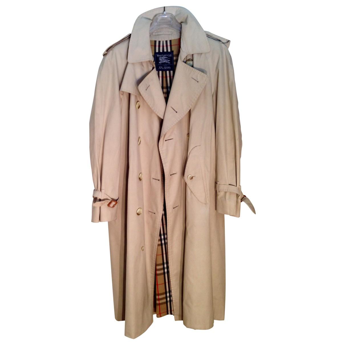 Burberry \N Beige Cotton coat  for Men 48 IT