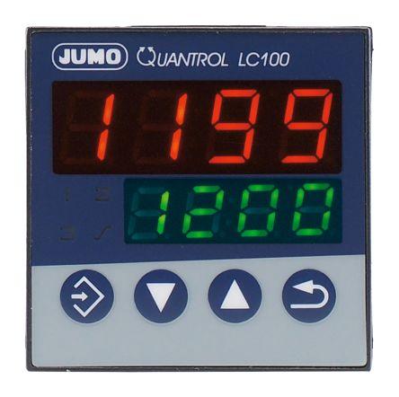Jumo QUANTROL PID Temperature Controller, 48 x 48mm 1 (Analogue) Input, 2 Output Logic, Relay, 20 → 30 V ac/dc