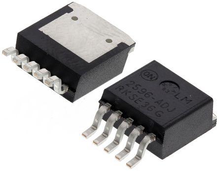 ON Semiconductor , LM2596DSADJR4G Switching Regulator, 1-Channel 3A Adjustable 5-Pin, D2PAK (5)