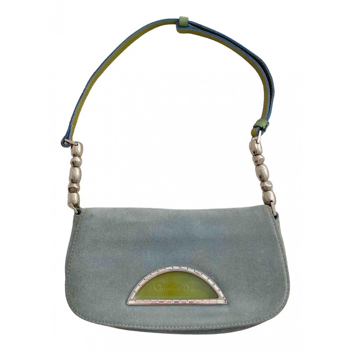 Dior \N Blue Suede handbag for Women \N