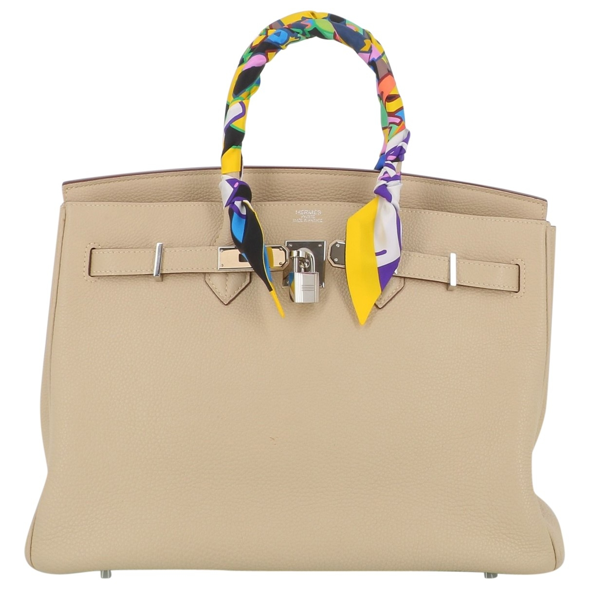 Hermès Birkin 35 White Leather handbag for Women \N