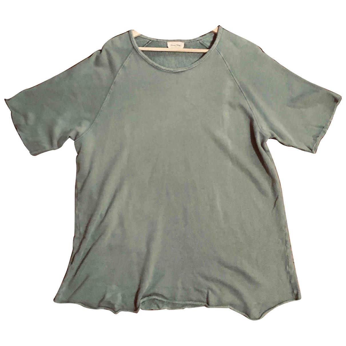 American Vintage \N Khaki Cotton T-shirts for Men M International