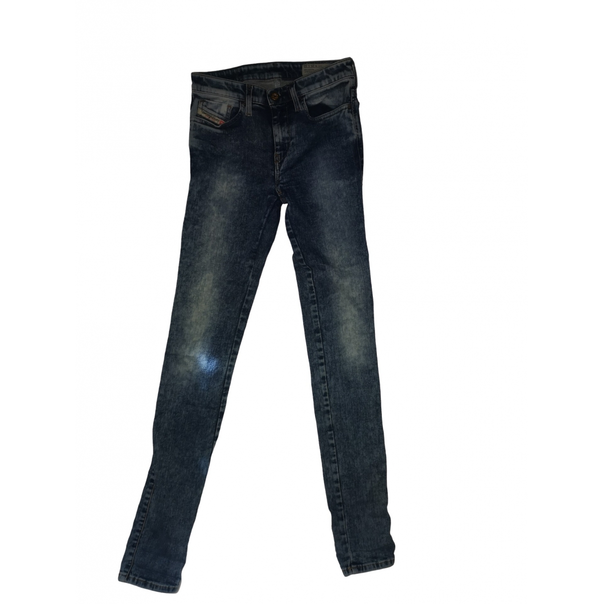Diesel \N Blue Cotton - elasthane Jeans for Women 35 FR