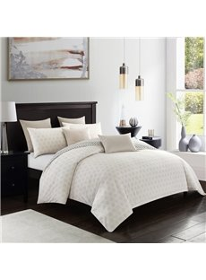 Farmhouse Style Soft And Cozy 3-Piece Polyester Simple Style Beige Duvet Covers/Bedding Sets