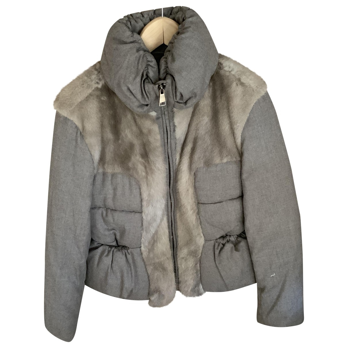 Non Signé / Unsigned \N Beige Wool Leather jacket for Women 40 FR