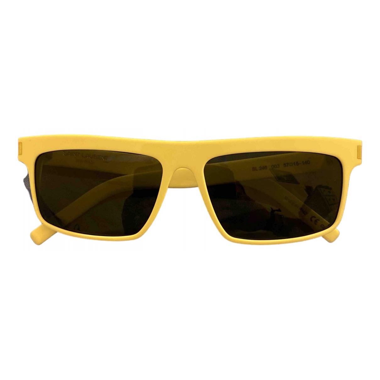 Saint Laurent \N Yellow Sunglasses for Women \N