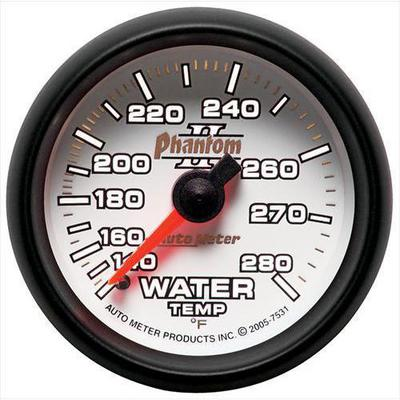 Auto Meter Phantom II Mechanical Water Temperature Gauge - 7531