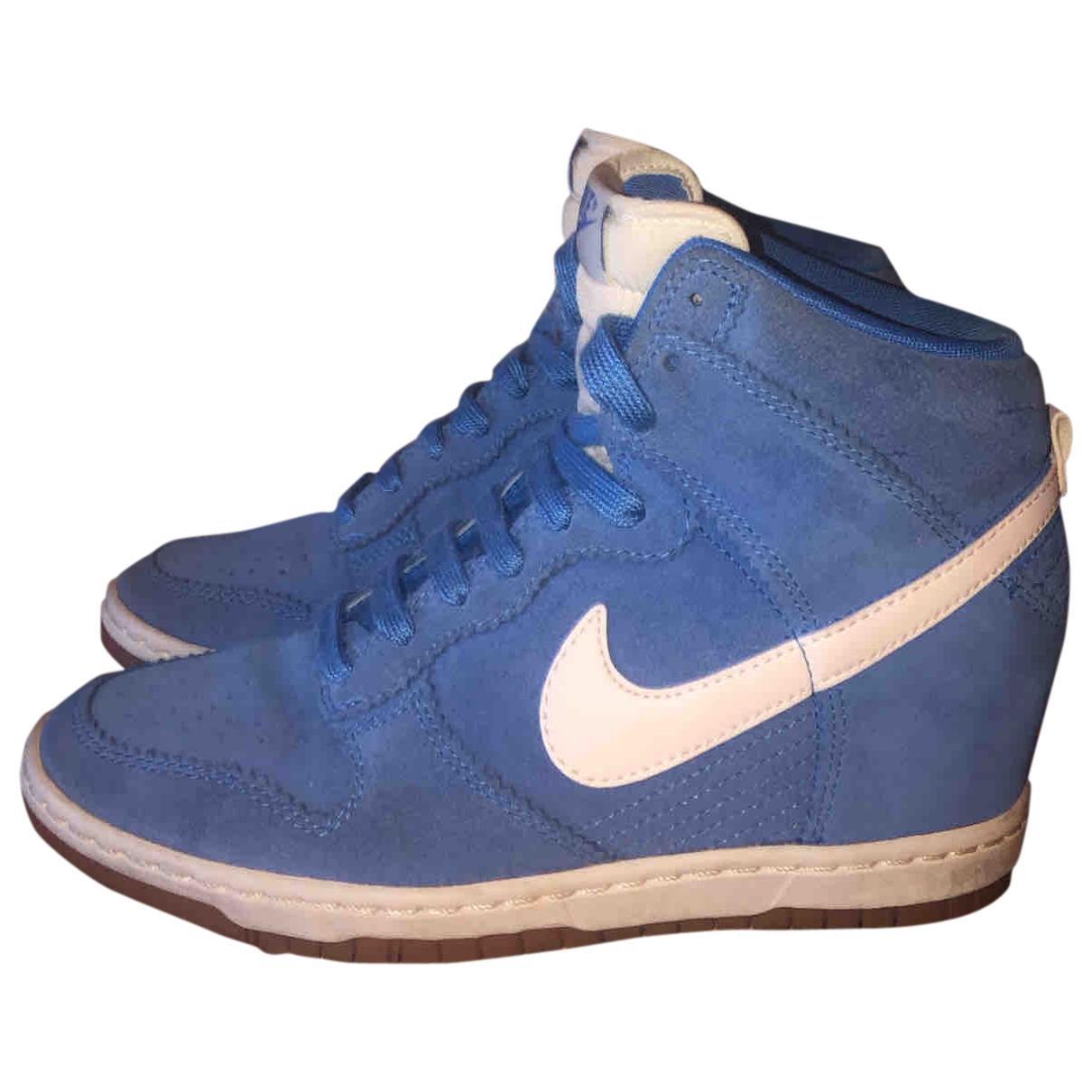 Nike \N Blue Suede Trainers for Women 38 EU