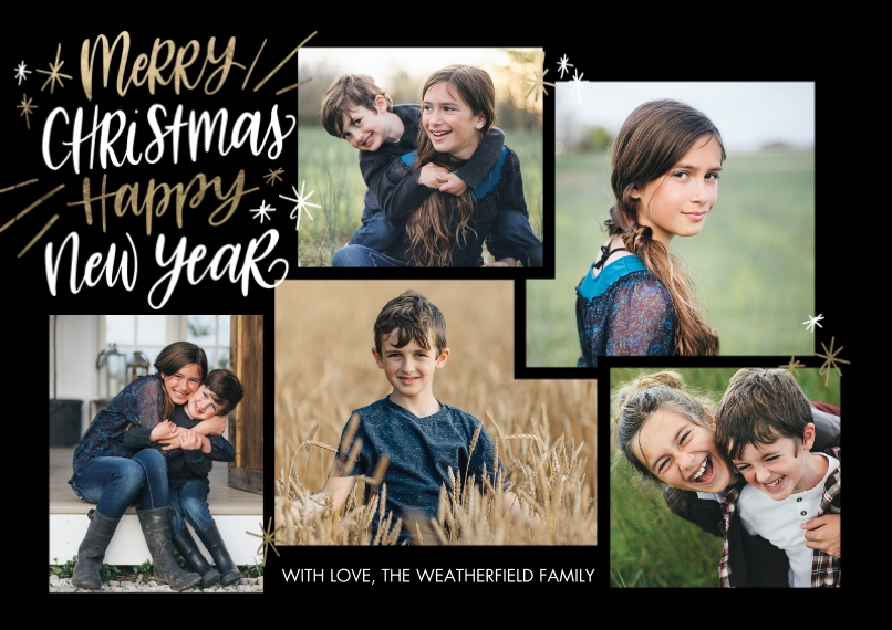Christmas Photo Cards 5x7 Cards, Premium Cardstock 120lb with Elegant Corners, Card & Stationery -Christmas New Year Rustic by Tumbalina