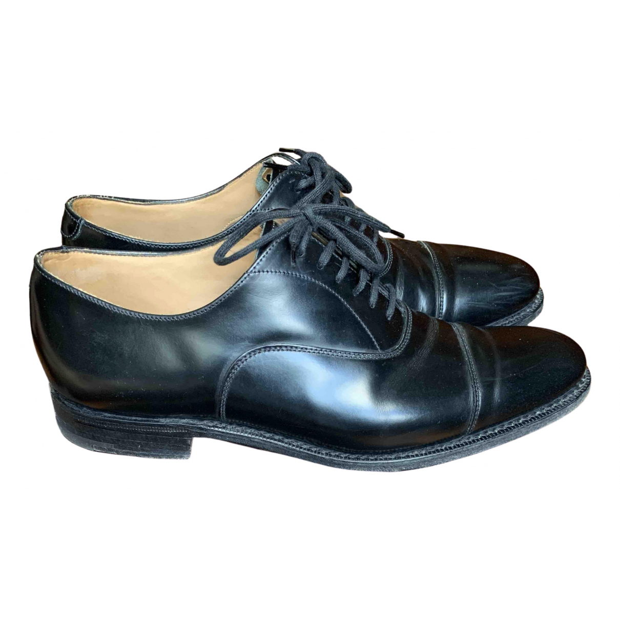 Church's \N Black Leather Lace ups for Men 40.5 EU