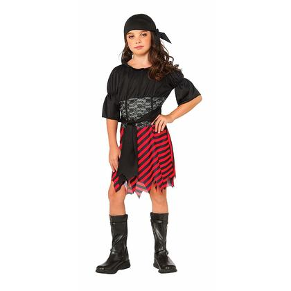 Halloween Girl Costume, Pirate Girl - Size M