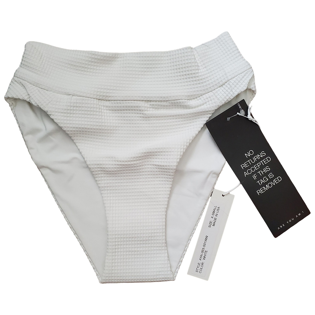 Are You Am I \N White Swimwear for Women XS International