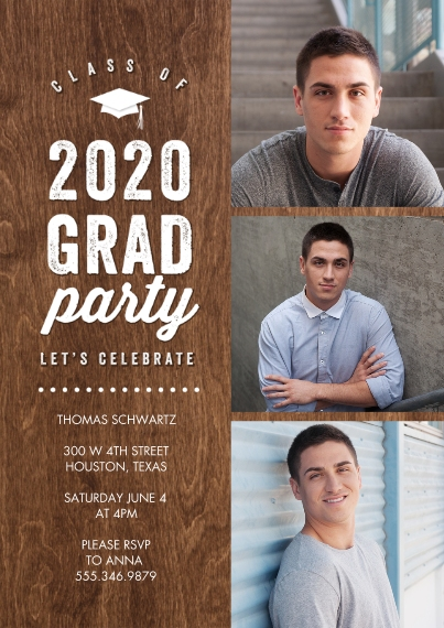 Graduation Invitations Flat Glossy Photo Paper Cards with Envelopes, 5x7, Card & Stationery -2020 Grad Party Celebrate Memories