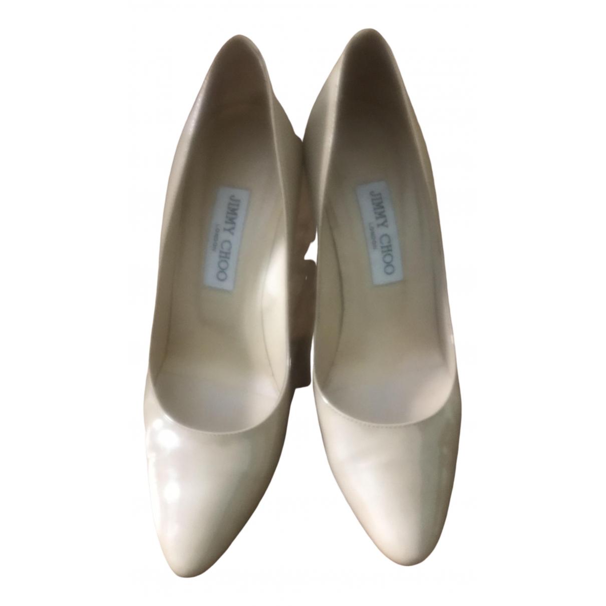 Jimmy Choo Esme Beige Patent leather Heels for Women 39 EU