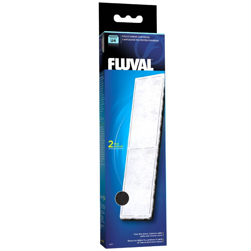 Fluval U4 Filter Poly/Carbon Catridge (2 pack)