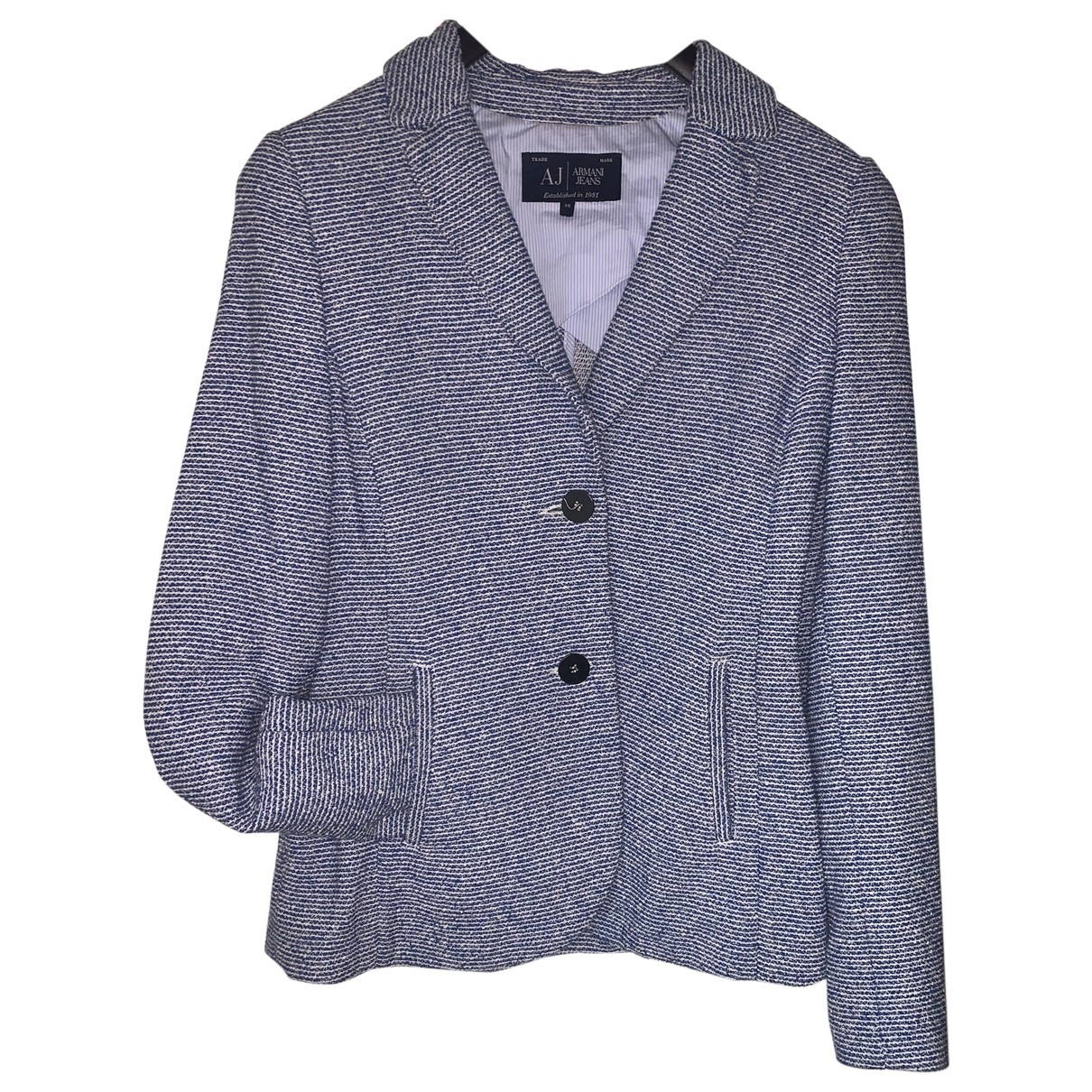 Armani Jeans \N Blue Cotton jacket for Women 38 IT