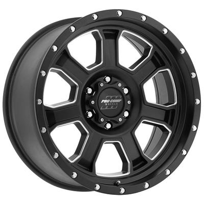 Pro Comp Series 5143, 17x9 Wheel with 6 on 5.5 Bolt Pattern - Satin Black and Milled Finish - 5143-7983