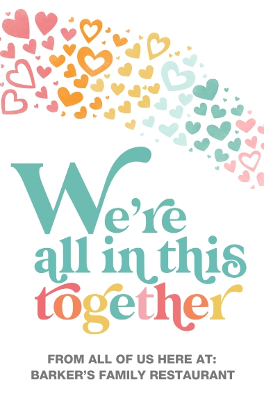 COVID-19 24x36 Adhesive Poster, Home Décor -In This Together