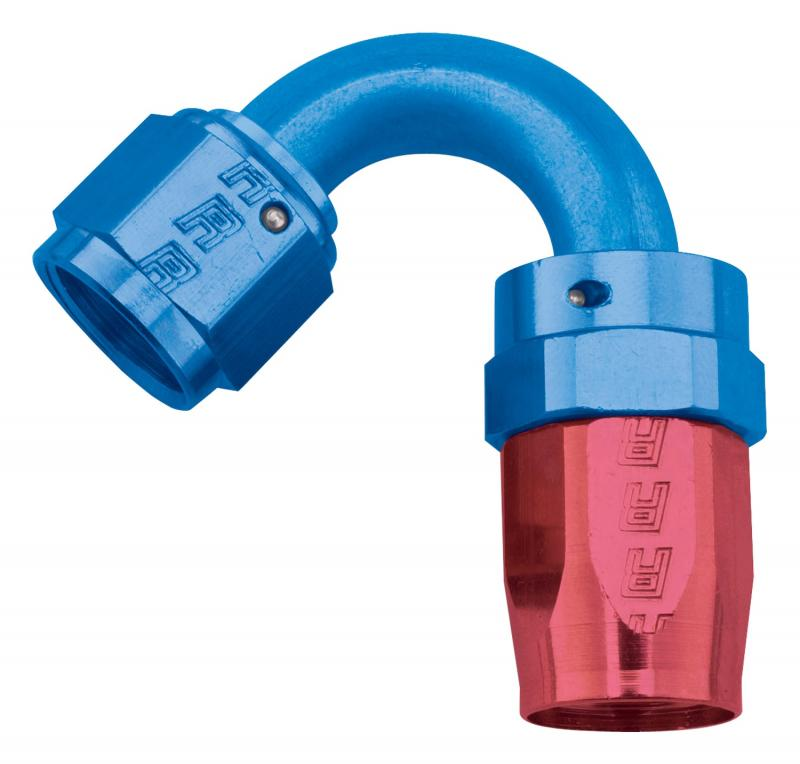 Russell FULL FLOW SWIVEL TIGHT RADIUS HOSE END 120 #8 ANODIZED
