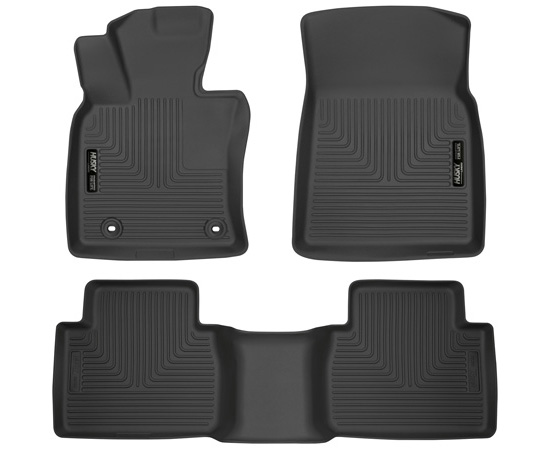 Husky Liners 95731 18 Toyota Camry Front & 2nd Seat Floor Liners Black