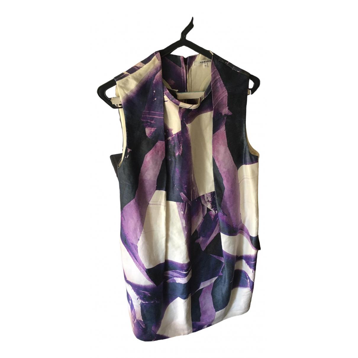 Carven \N Multicolour Silk dress for Women 42 FR